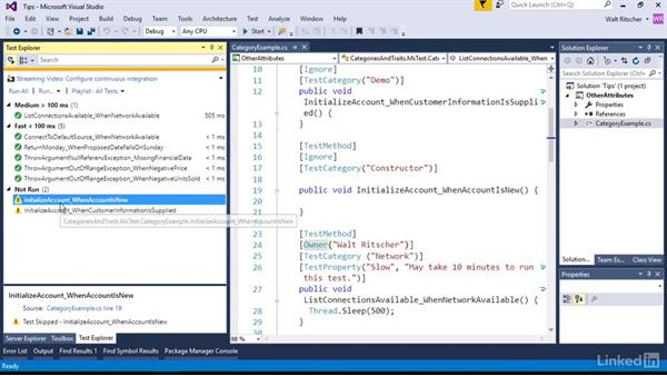 Get more from your tests: Visual Studio 2015 Essentials 09: Unit Tests