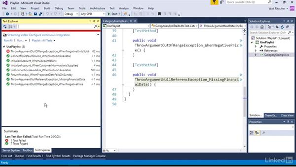 Customize the test runs with playlists: Visual Studio 2015 Essentials 09: Unit Tests