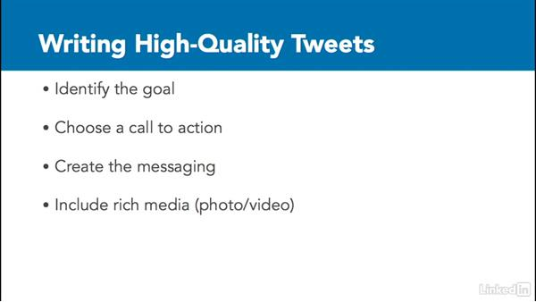 Write high quality tweets: Social Media Marketing with Facebook and Twitter