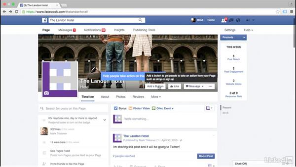 Explore the interface: Social Media Marketing with Facebook and Twitter