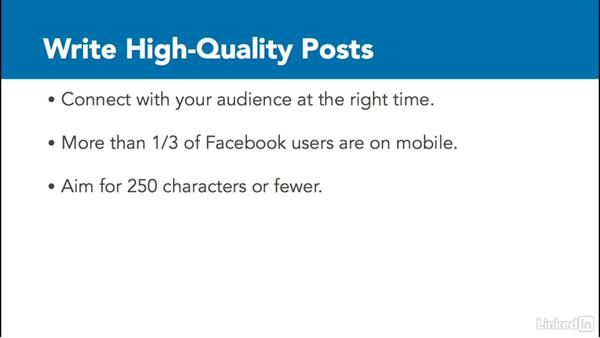 Write high quality posts: Social Media Marketing with Facebook and Twitter