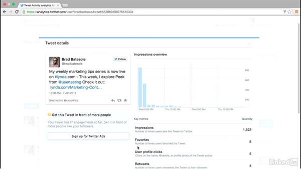 Review Twitter analytics: Social Media Marketing with Facebook and Twitter