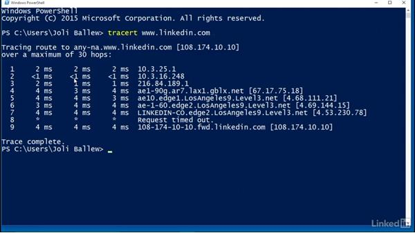 Use Tracert to troubleshoot network connectivity: Windows 10 Networking Fundamentals