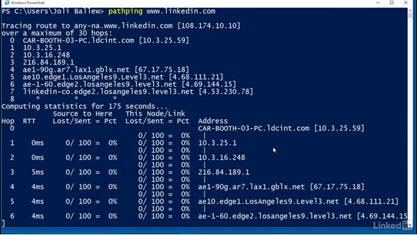 Use PathPing to troubleshoot network connectivity: Windows 10 Networking Fundamentals