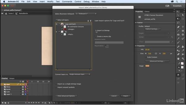 Advanced Illustrator import: Adobe Animate CC: New Features