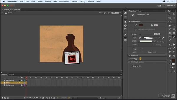 Paint Brush drawing modes: Adobe Animate CC: New Features