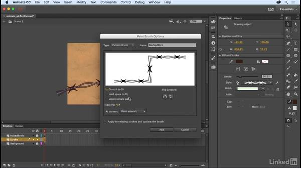 Pattern brushes: Adobe Animate CC: New Features