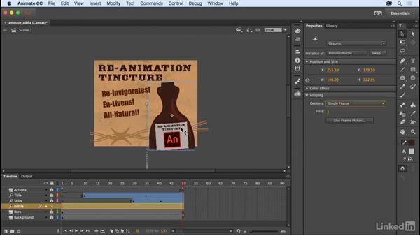 Graphic symbol frame picker: Adobe Animate CC: New Features