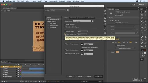 Center stage and responsive scaling: Adobe Animate CC: New Features