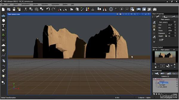 Framing the camera shot: VUE: Animating a Landscape