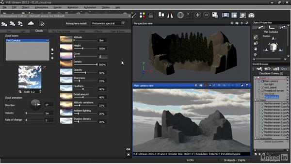 Adding a cloud layer: VUE: Animating a Landscape