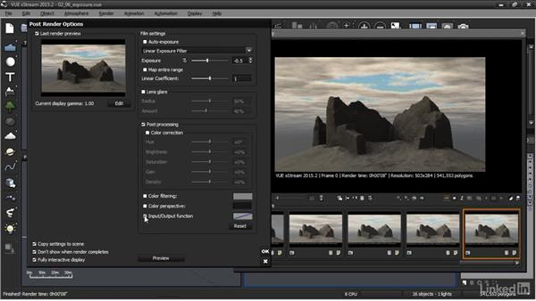 Controlling exposure: VUE: Animating a Landscape
