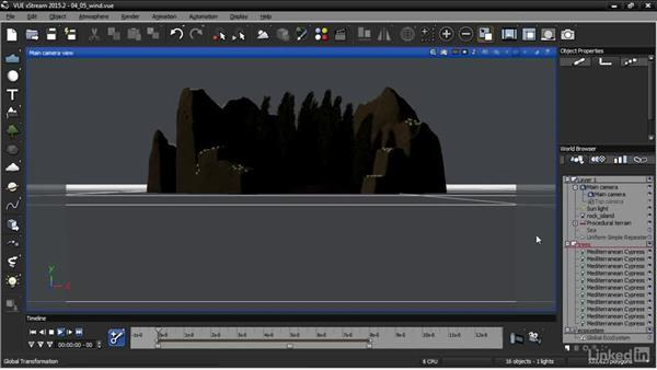 Adding wind to plants: VUE: Animating a Landscape
