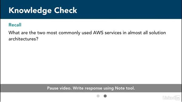 Knowledge check: Amazon Web Services for Data Science