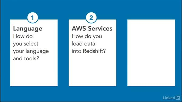 AWS data warehouse: Select language & tools & set up a development environment: Amazon Web Services for Data Science