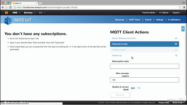 Use AWS IoT MQTT: Amazon Web Services for Data Science