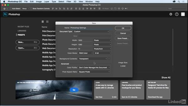 Photoshop settings: Motion Graphics Loops 01: Photoshop Techniques
