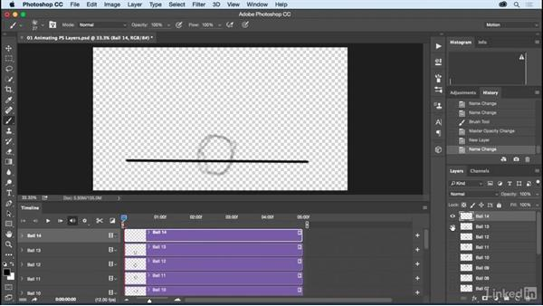 Animating layers in the Photoshop Timeline: Motion Graphics Loops 01: Photoshop Techniques