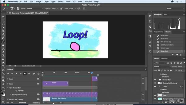 Color and texture in the Timeline: Motion Graphics Loops 01: Photoshop Techniques