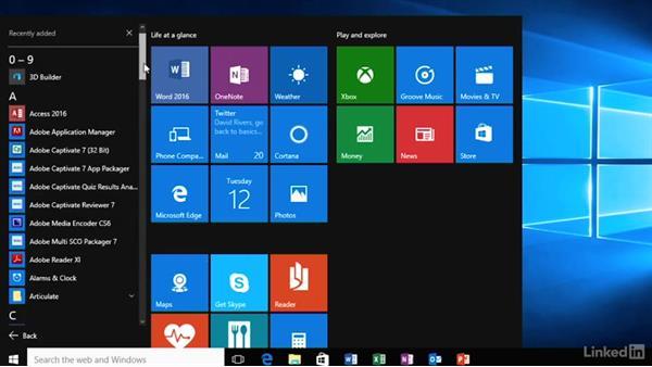 Navigate the new Windows 10 UI