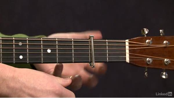 Using a capo: Acoustic Guitar Lessons with Bryan Sutton: 2 Scales, Walking Bass, Hammer-Ons, and Pull-Offs