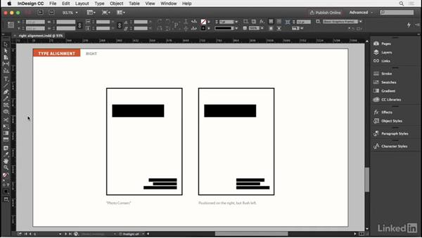 Right-aligned type: InDesign Typography Part 2
