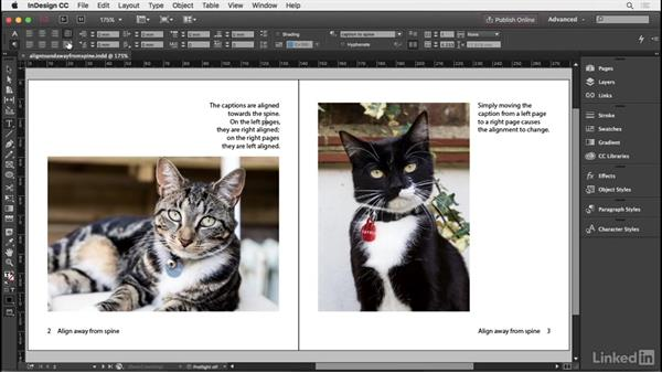 Aligning to or away from the spine: InDesign Typography Part 2