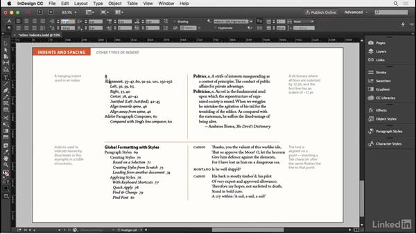 Other types of indents: InDesign Typography Part 2