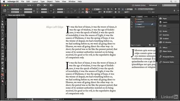 Setting a drop cap or intial cap: InDesign Typography Part 2