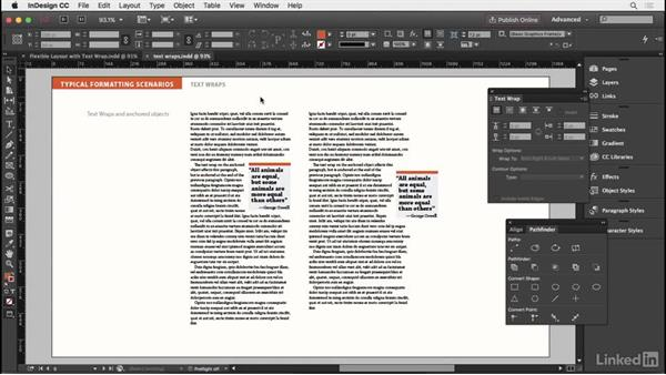 Working with text wraps: InDesign Typography Part 2