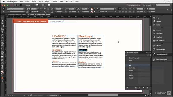 Parent and child styles: InDesign Typography Part 2
