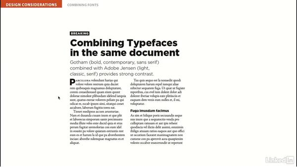 Combining typefaces: InDesign Typography Part 2