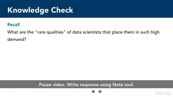 Knowledge check: What is data science?: Introduction to Data Science