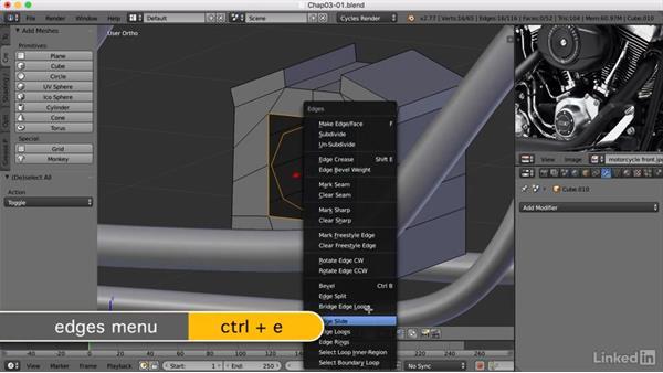 Building the engine: Blender: Model a Motorcycle
