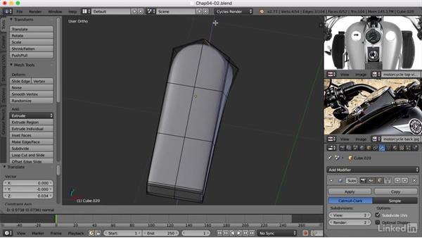 Creating the speedometer: Blender: Model a Motorcycle