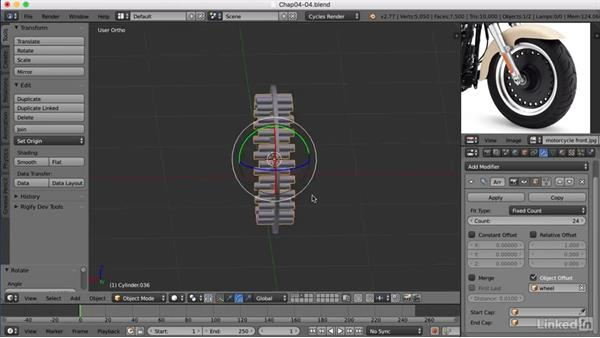 Creating the wheels: Blender: Model a Motorcycle