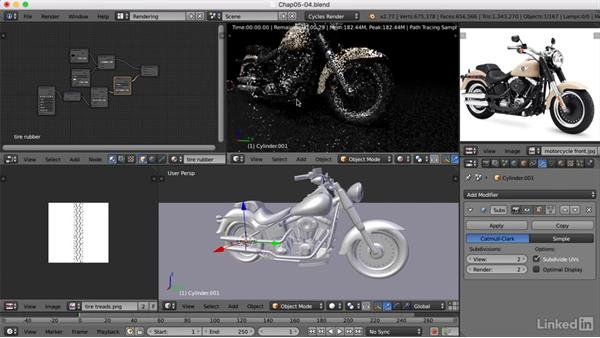 Adding textures: Blender: Model a Motorcycle