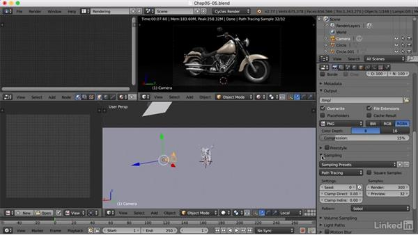Creating the final render: Blender: Model a Motorcycle