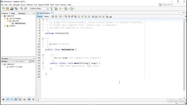 Creating your first program and templates: Overview of IDEs for Java