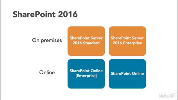 Understand SharePoint 2016 products: SharePoint 2016 Essential Training
