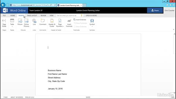 Open and edit a document: SharePoint 2016 Essential Training
