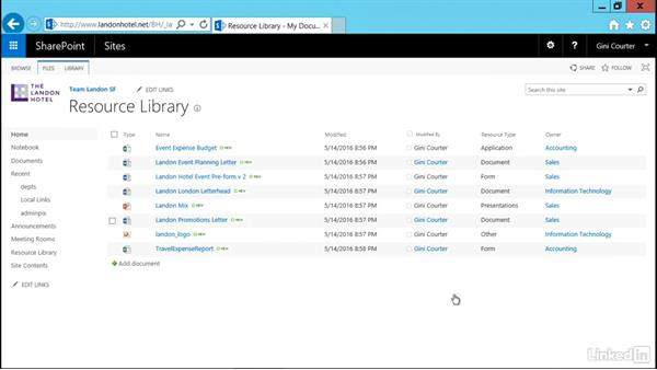 Create a dynamic view: SharePoint 2016 Essential Training