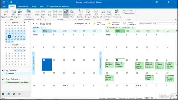 Outlook and SharePoint: SharePoint 2016 Essential Training