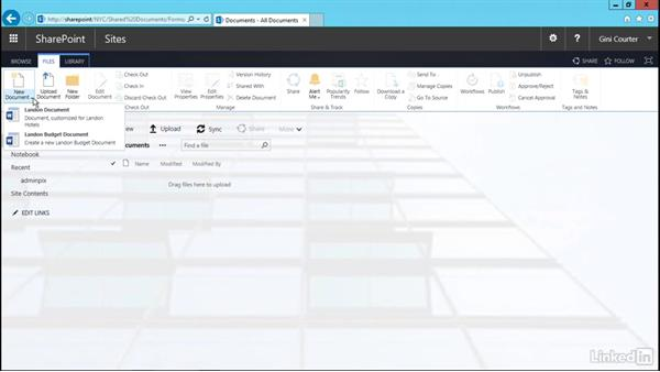 Use a custom content type: SharePoint 2016 Essential Training