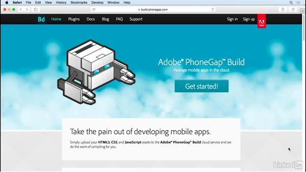 Create a PhoneGap Build account: Learn PhoneGap Build: The Basics