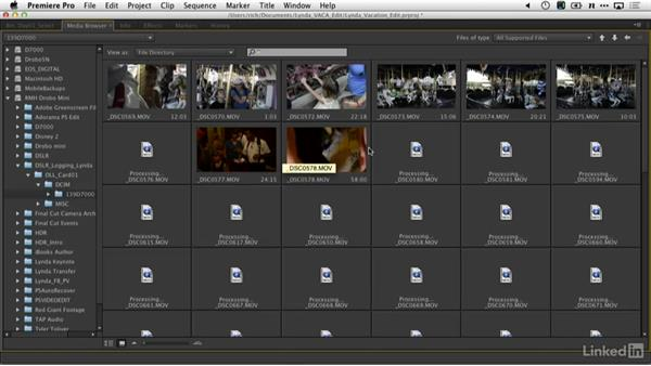 Importing footage into Premiere Pro: DSLR Video Tips: Software