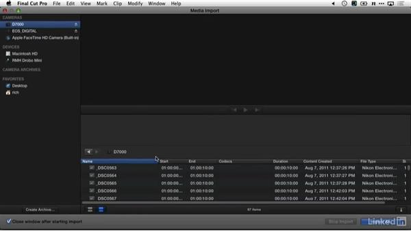 Transferring from a card into Final Cut Pro X: DSLR Video Tips: Software