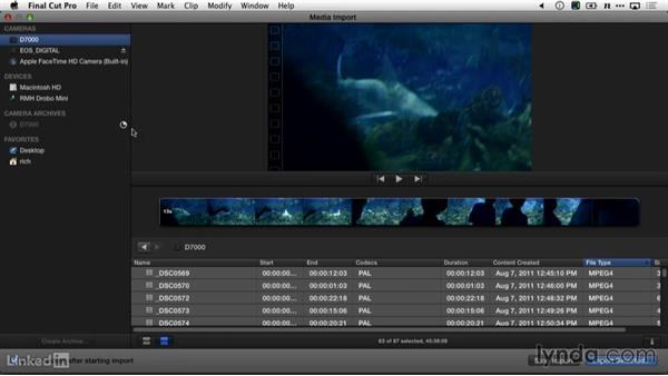 Importing footage into Final Cut Pro X: DSLR Video Tips: Software