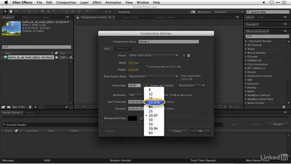 Assembling a time lapse in After Effects: DSLR Video Tips: Software