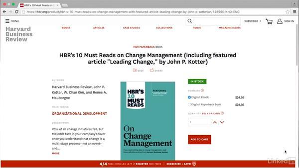 Next steps: Change Management